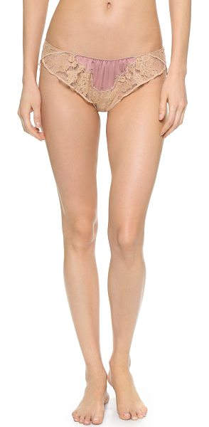 Kiki De Montparnasse Le reve panties in rose/nude - Delicate lace trim accents soft satin panels on these...