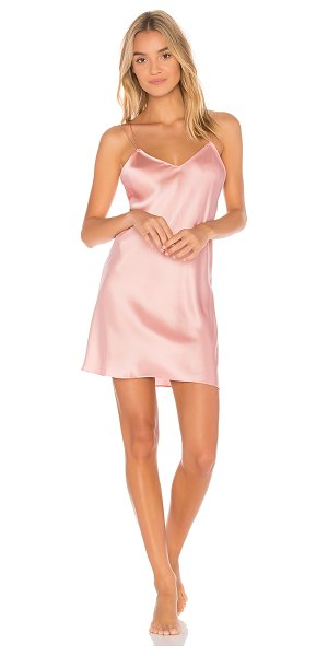 KISSKILL Rhiana Slip in blush - 100% silk. Hand wash cold. Unlined. Back criss-cross...