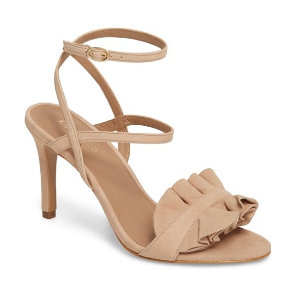 Klub Nico ansley sandal in pink - A ruffle-embellished toe strap adds an extra note of...