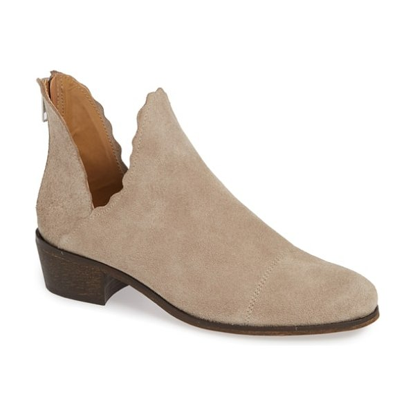 Klub Nico bae scalloped bootie in beige