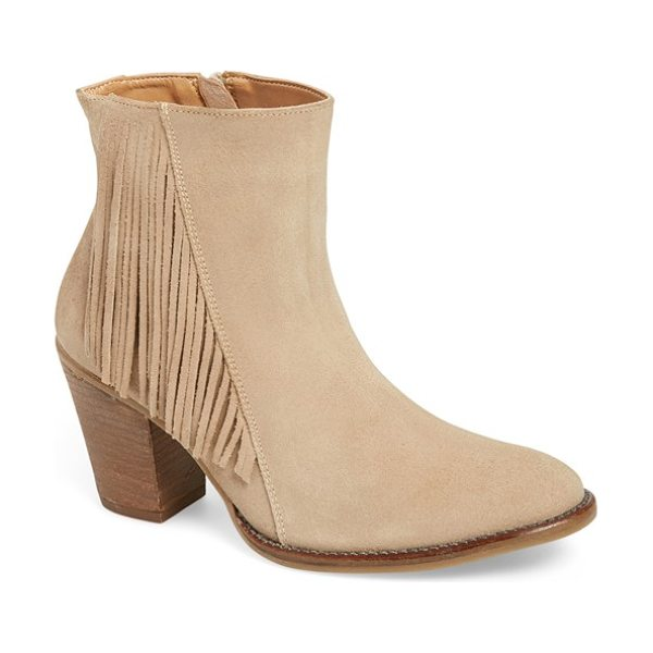 Klub Nico batilda bootie in sand suede - A sophisticated boot gets a cool, vintage look with...
