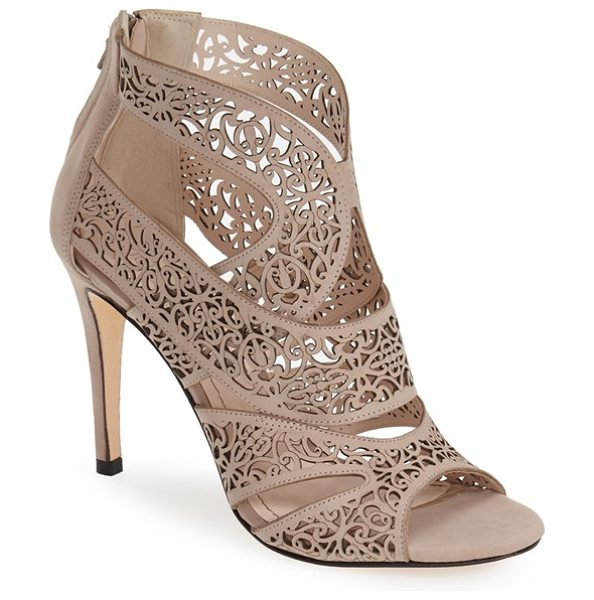 Klub Nico mallorca laser cutout sandal in taupe leather - Delicate filigree laser-cut perforations dance across...