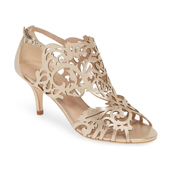 Klub Nico marcela 2 cutout shield sandal in metallic