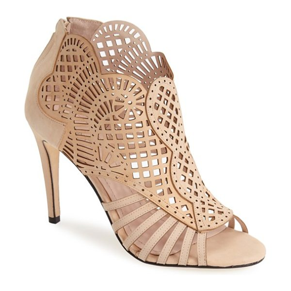 Klub Nico 'mirelle' cutout bootie in nude - Delicate laser-cut perforations dance across the...
