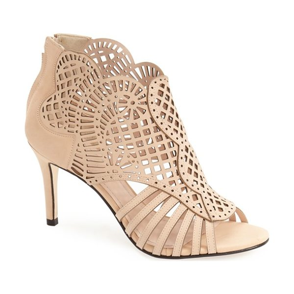 Klub Nico mirelle cutout bootie in nude - Intricate laser cutouts lend a breezy summer vibe to a...