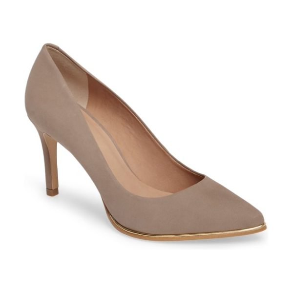 Klub Nico rafaela pump in taupe nubuck leather - This essential pointy-toe pump is primed to go from...