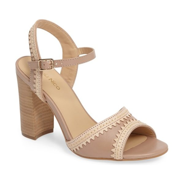 Klub Nico talici sandal in blush - Lasered scallop contrast trim adds to the breezy boho...