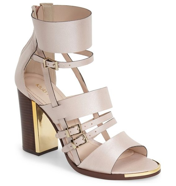 Klub Nico tuscany strappy sandal in nude leather