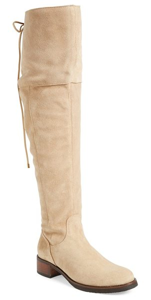 Klub Nico zuni over the knee boot in sand suede - Lace-up back panel detailing adds a neo-Victorian touch...