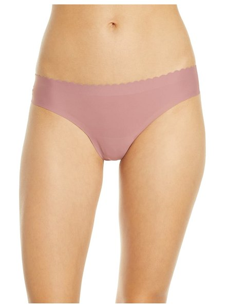 KNIX essential scallop thong in pink