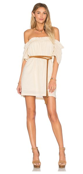 KNOT SISTERS Harper Tunic Dress in beige - Cotton blend. Fully lined. Elastic neckline. Side seam...