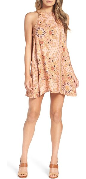 Knot Sisters meg halter minidress in blush mandala - As the temperatures rise, go for this halter minidress...
