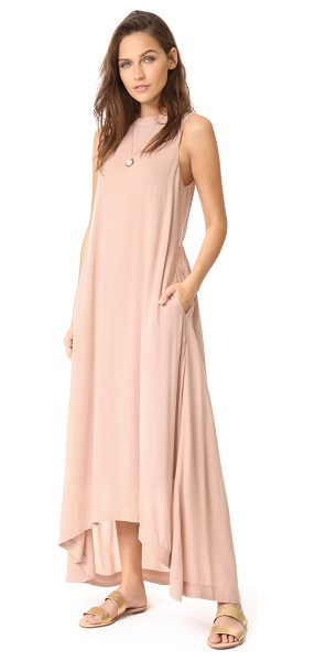 Knot Sisters park ave dress in blush - This figure-skimming Knot Sisters maxi dress is cut with...