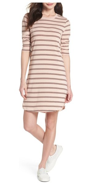 Knot Sisters saul tunic dress in blush 90s stripe - Boast casual-cool style in this cleverly striped tunic...
