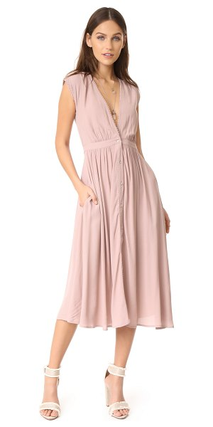 Knot Sisters secret garden dress in dusty lilac - This versatile Knot Sisters midi dress has a casual, yet...