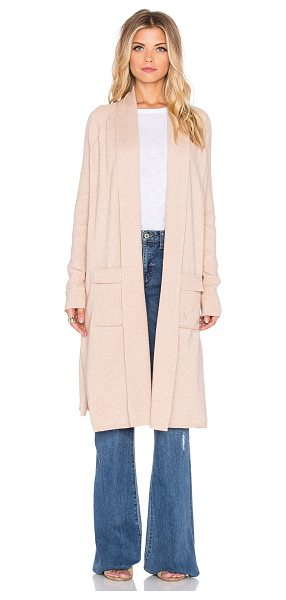 KNOT SISTERS Wyoming cardigan in blush - Cotton blend. Open front. Front patch pockets. KNOT-WK4....