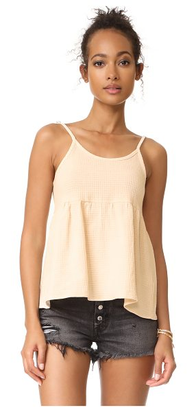 Knot Sisters zion top in natural - A raised check motif covers this relaxed Knot Sisters...