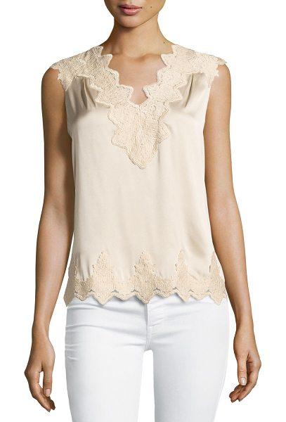 KOBI HALPERIN Lana Lace-Trim Stretch-Silk Blouse - Kobi Halperin lace-trimmed stretch-silk blouse. Approx....