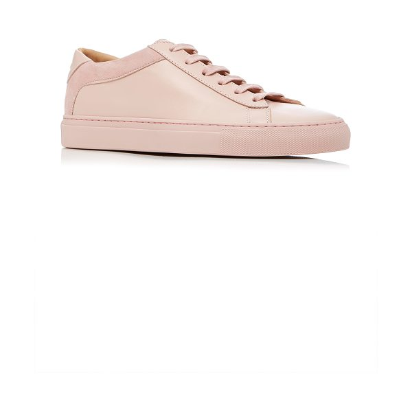 Koio Capri Fiore Sneaker in pink - This *Koio* sneaker is rendered in leather and features...
