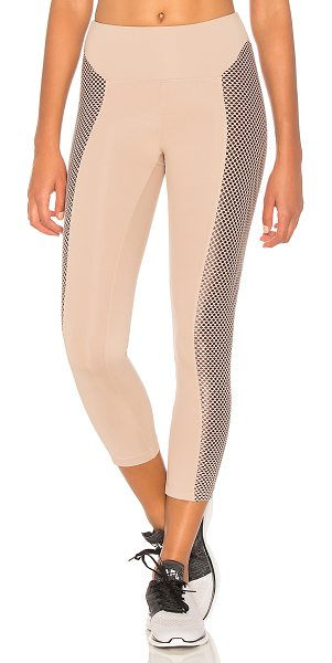 KORAL ACTIVEWEAR Clementine High Rise Crop - Self: 86% nylon 14% lycraContrast 1: 89% nylon 11%...