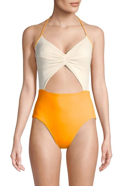 KORE one-piece flora maillot swimsuit - Colorblocking swimsuit with seam and shirred details....