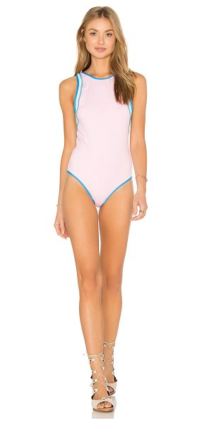 Kore SWIM Hera Cameo One Piece in pink - 77% nylon 23% spandex. Hand wash cold. Stretch fit....