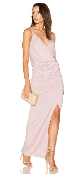 krisa Crossover Maxi in pink - 95% siro micro modal 5% spandex. Fully lined. Jersey...