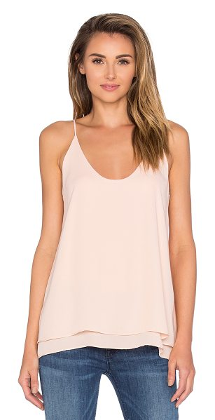 krisa Double Layer Cami in blush - 100% poly. Double layered. KISA-WS135. K 1262MW....