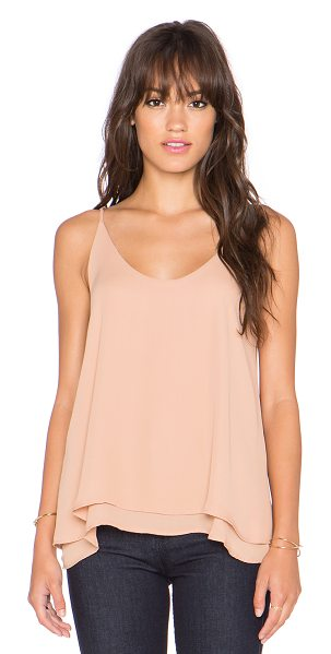 krisa Double layer cami in tan - 100% poly. KISA-WS100. K1262MW. Designer Krisabelle Ann...
