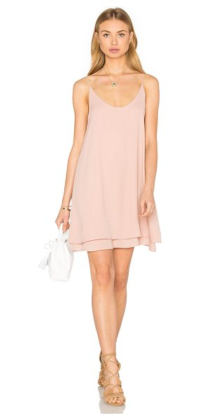 krisa Doubler Layer Cami Mini Dress in blush - 100% poly. Fully lined. KISA-WD227. K 1373MW. Designer...