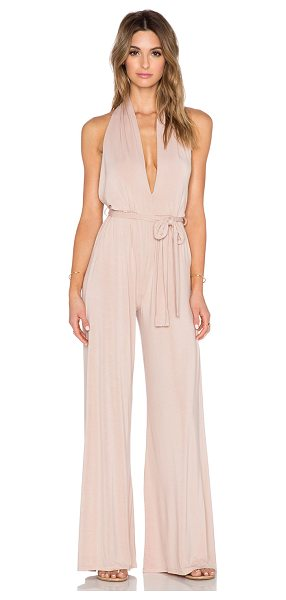 KRISA Halterneck jumpsuit - 95% siro micro modal 5% spandex. Ruched back halter...