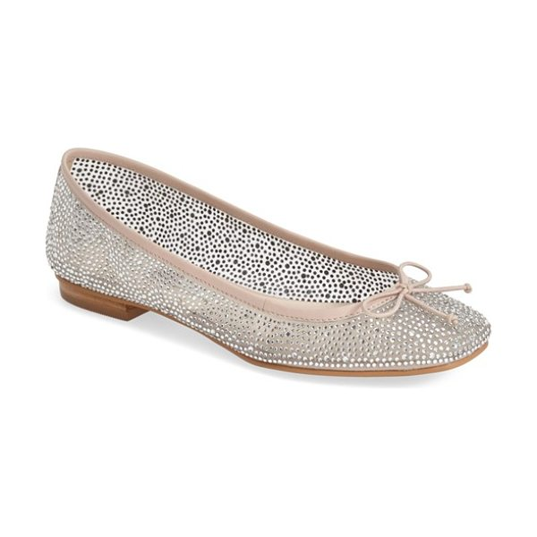 Kristin Cavallari alli mesh ballet flat in pink - Faceted crystals flash and shimmer on a stunning ballet...