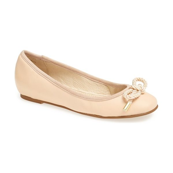 KRISTIN CAVALLARI ammiccare flat in new nude - A ropy bow with metal tips looks slightly nautical and...