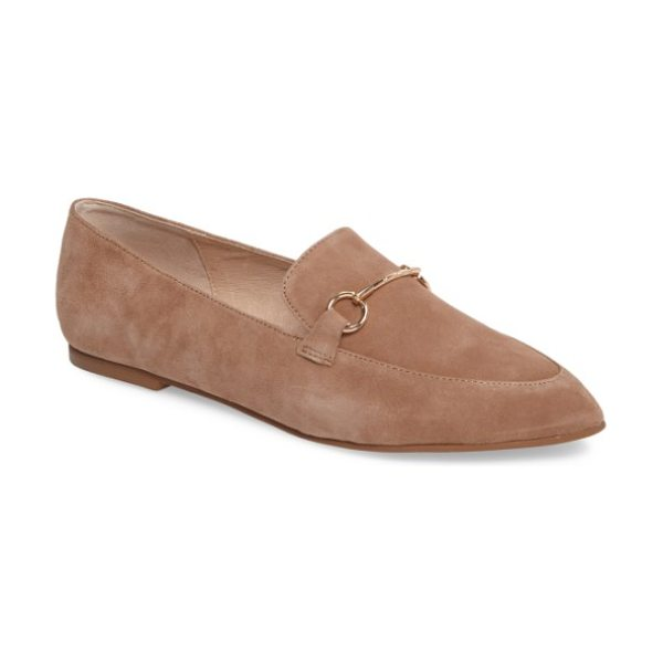 Kristin Cavallari cambrie loafer flat in clay suede - Polished, equestrian-inspired hardware and a pointed toe...
