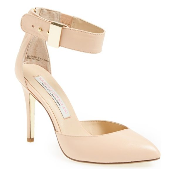 Kristin Cavallari celestial pump in new nude - A trend-savvy pump with a pointy toe uses minimalist...
