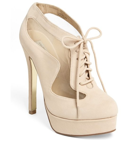 Kristin Cavallari lacee pump in new nude/ new nude - A lace-up platform pump sports sleek mesh panels for...