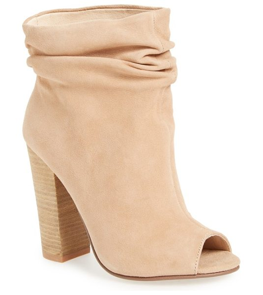 Kristin Cavallari 'laurel' peep toe bootie in new nude - Gentle ruching gives a stylishly slouchy look to an...