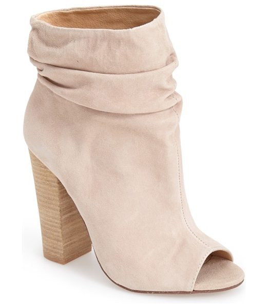 KRISTIN CAVALLARI laurel peep toe bootie - Gentle ruching gives a stylishly slouchy look to an...
