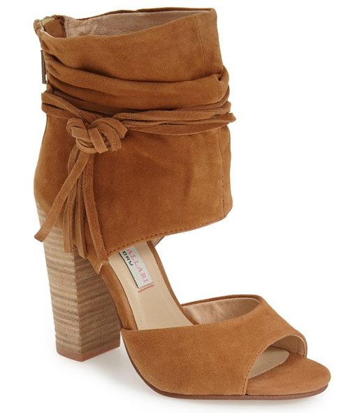 KRISTIN CAVALLARI 'leigh 2' ankle cuff sandal - Wraparound ties knotted at one side accent the ruched...