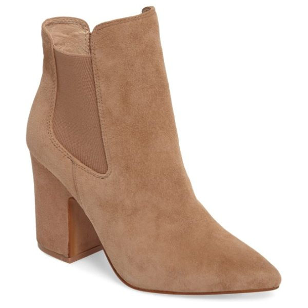 Kristin Cavallari starlight bootie in clay suede - Elastic-gore insets dial up the casual attitude of a...