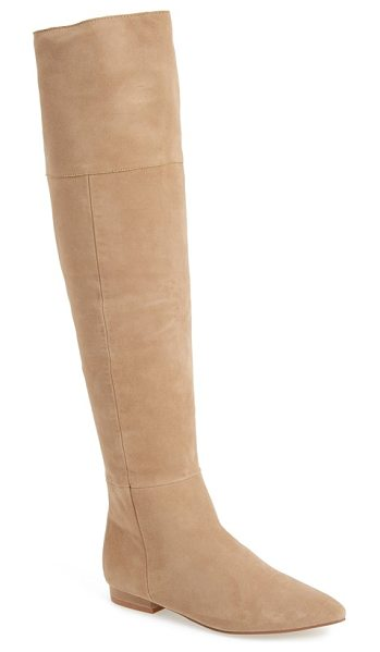 Kristin Cavallari 'york' over the knee boot in tawny suede - An exposed back zipper adds a flash of glamour to a...