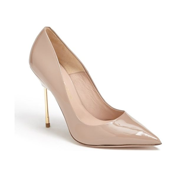 Kurt Geiger London britton pump in nude patent - Named after East London's Britton Street, where the...