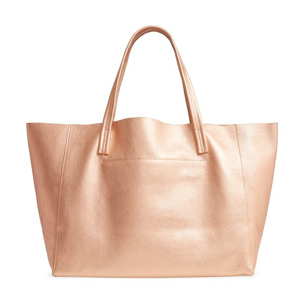 Kurt Geiger London violet leather tote in coral