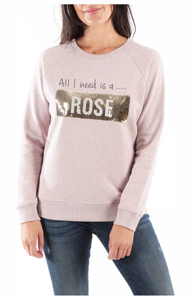 KUT from the Kloth asteria sweatshirt in pink - The glittering graphic of this cozy pullover does double...
