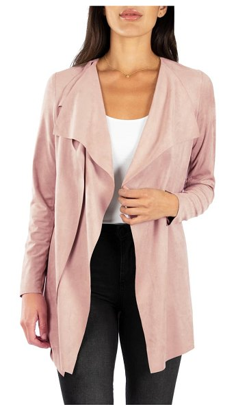 KUT from the Kloth dianne faux suede jacket in pink