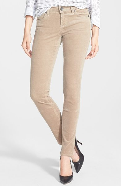 KUT from the Kloth diana stretch corduroy skinny pants in khaki - Stretchy pinwale corduroy defines the leg-hugging fit of...
