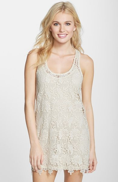 L*SPACE sylvie lace cover-up dress in natural - This free-spirited cover-up is cute and versatile in a...