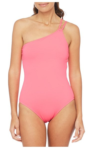 La Blanca goddess one-shoulder one-piece swimsuit in pink