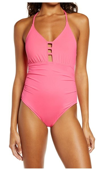 La Blanca laddered mio one-piece swimsuit in pink