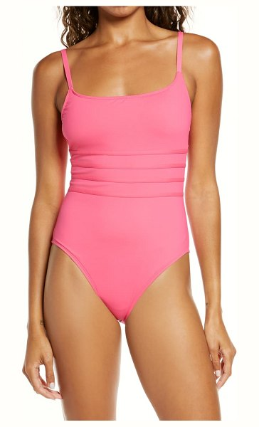 La Blanca strappy mio one-piece swimsuit in pink